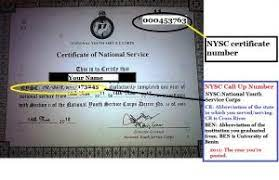 Difference Between NYSC Call-Up Number and NYSC Certificate Number
