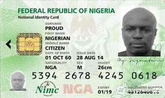 Old National Identity Card nin number