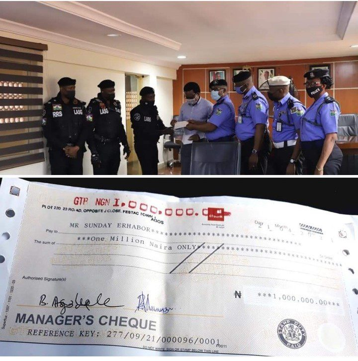 Nigerians Donate N1Million To Lagos Policeman Who Was Harassed By One-Way Driver