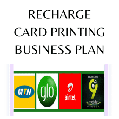 Recharge Card Printing Business Plan infomediang