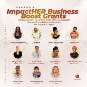 winners of impactHER Business grant in Africa