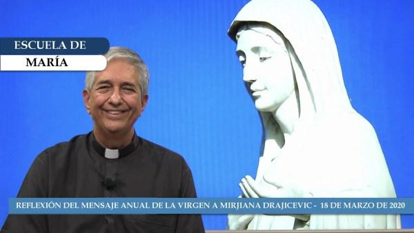 Escuela de María – Refleción del mensaje de la Reina de la Paz del 18 de marzo de 2020
