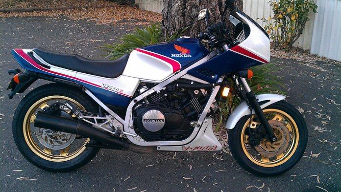 Honda VF750F bike maintenance