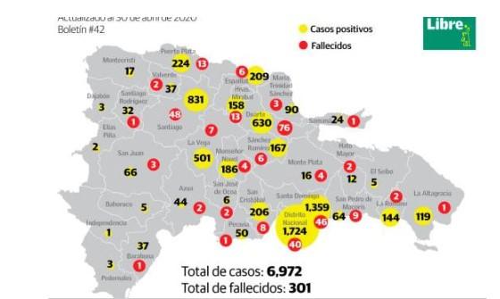 Sectores de la capital más afectados por coronavirus