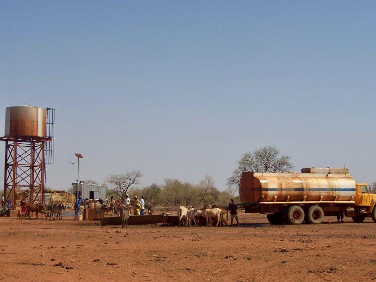 Water station in Neem village.