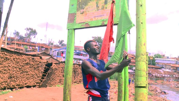 kibera flood warning flag