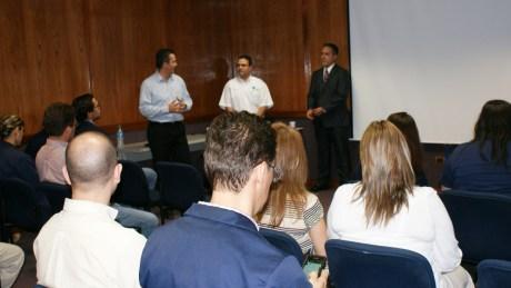 Aspectos del evento encabezado por Carlos Navarro, titular de la PGJE.