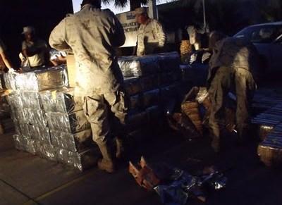Reporta la 45va Zona Militar más de cuatro toneladas de droga decomisadas