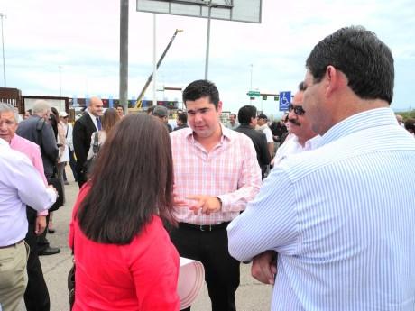 El Diputado por Nogales realizó el recorrido junto a otras autoridades.