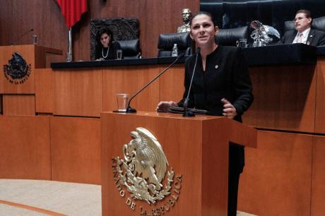 La senadora sonorense Ana Guevara.