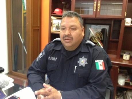 El comandante de Tránsito Municipal, Eliseo Estrada.