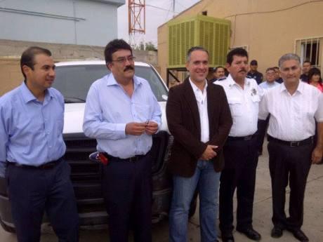 El Alcalde de Imuris recibió dos unidades policiacas.