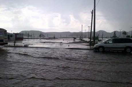 El fenómeno meteorológico causó estragos en el puerto.