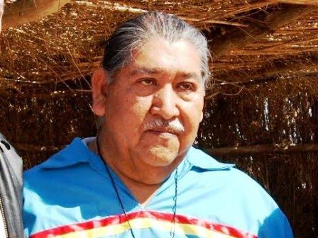 El gobernado tradicional de la tribu cucapá de Sonora, Nicolás Wilson Tambo.
