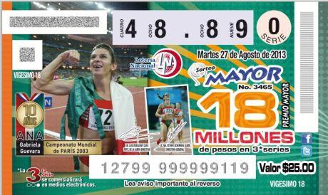 Imagen del boleto de Loteria.