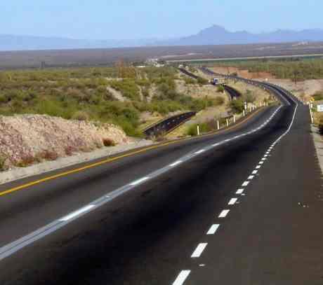 La carretera 4 Carriles en  Sonora.