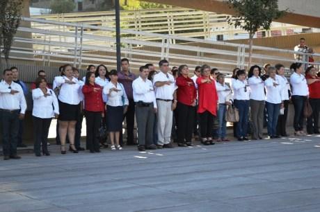 Encabeza Presidenta de DIF-Nogales Jornada Cívica.