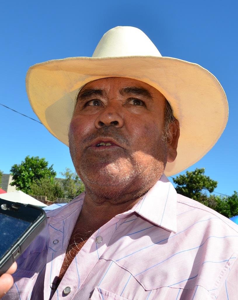 Lorenzo Armando Montoya Ceballos, comandante de la Tribu Yaqui.