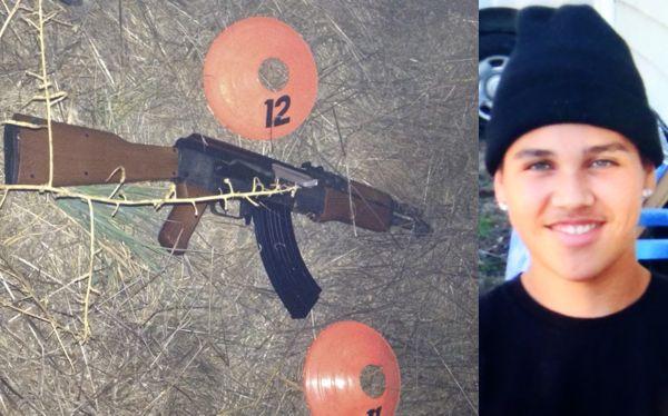 Imagen del menor Andy López y del arma de juguete que portaba cuando lo asesinaron.
