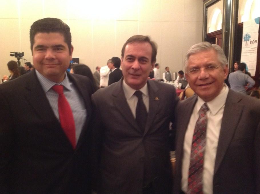 Con el presidente de la Coparmex.