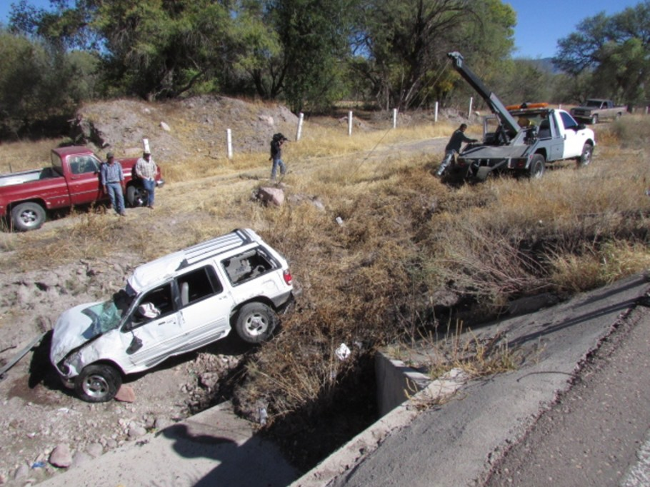 Así terminó el vehículo accidentado.