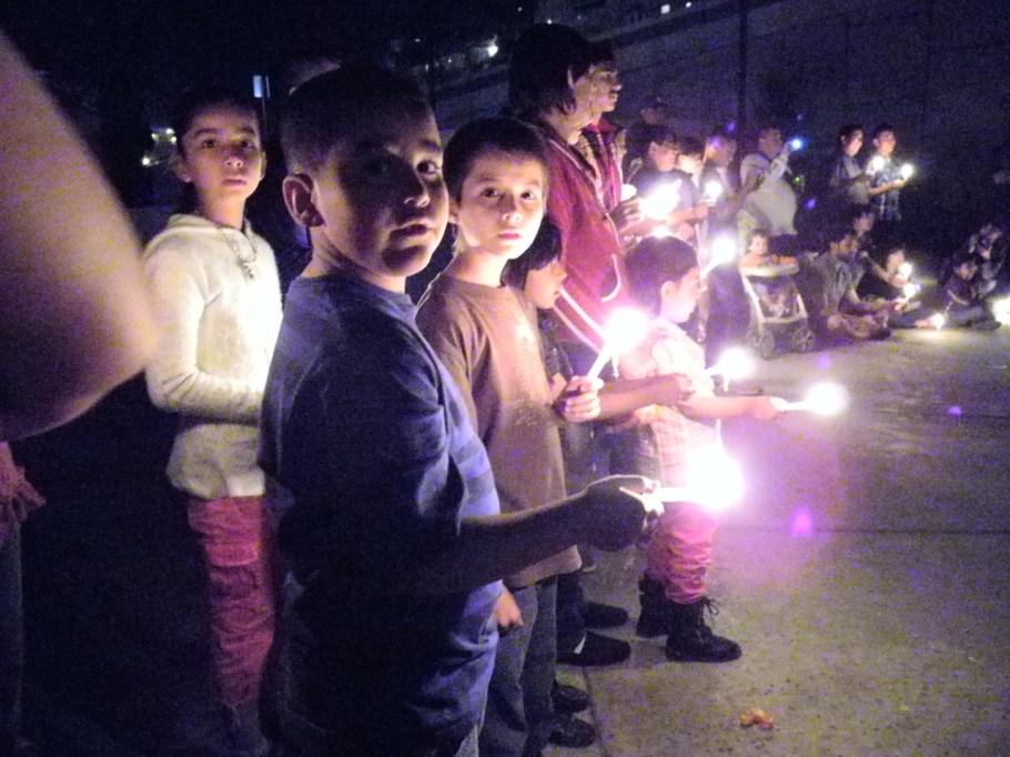 Familias completas tomaron parte de la celebración.