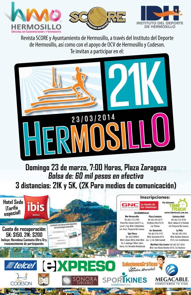 Poster promocional del Medio Maratón 2014.