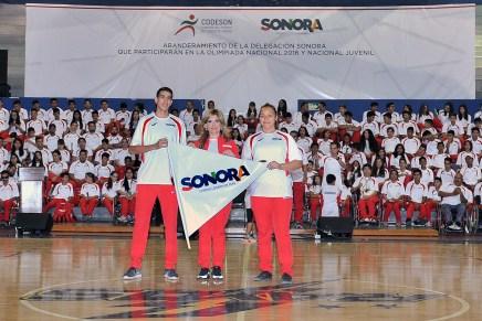 Abandera Gobernadora Pavlovich a deportistas rumbo a olimpiada
