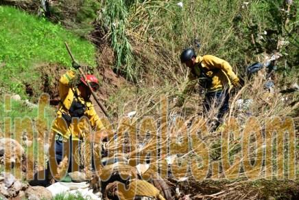 Rescatan en Nogales, Arizona a persona arrastrada por el arroyo desde Nogales, Sonora