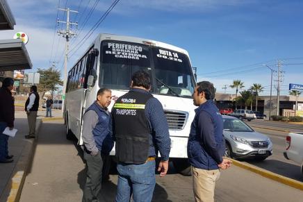 Supervisan autoridades rutas del transporte urbano en Nogales