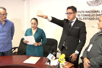 Toma protesta nuevo Vocal Ejecutivo del INE en Nogales, con las elecciones a la vuelta de la esquina