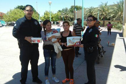Atienden parto policías y logran salvar la vida de madre e hijo en Cajeme