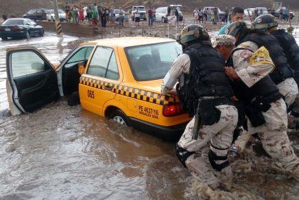 Activa Ejército Mexicano plan DN-III-E tras fuerte tormenta en Nogales