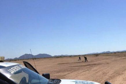 Policías federales destruyen pista clandestina cerca de Caborca