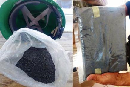 Aseguran a trabajador de mina que intentó sacar Lodo Anódico