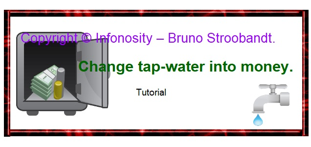 Make a money tap - free energy - no perpetual motion needed. - moneytap