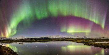 Фото дня: Разноцветный мерцающий занавес опустился над Исландией