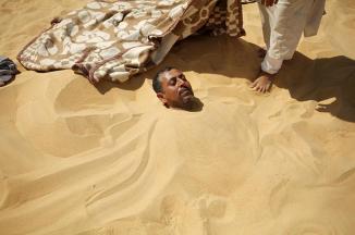 Фото дня: За здоровьем в пески Сивы