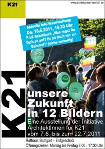 Flyer: unsere  Zukunft  in 12 Bildern