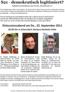 Diskussionsabend: S21 demokratisch legitimiert?