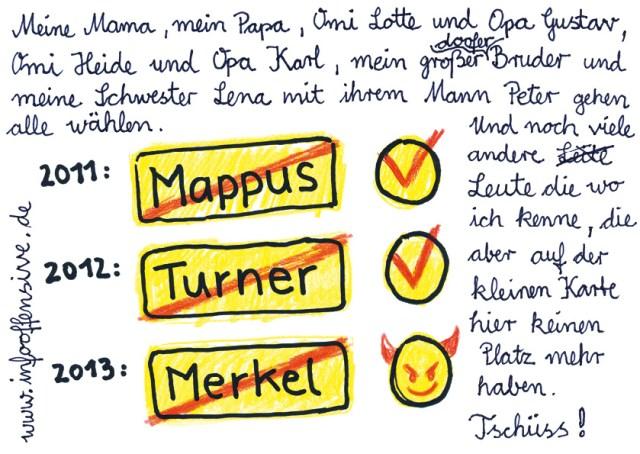 Mappus 2011 - Turner 2012 - Merkel 2013