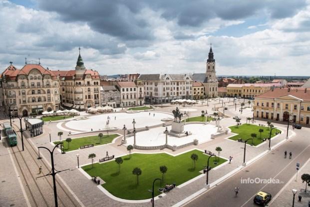 Modificari la circulatia rutiera in Piata Unirii din Oradea