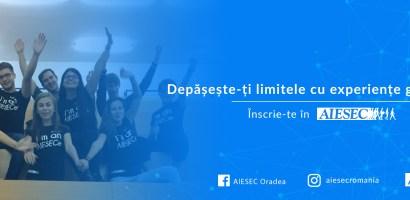 AIESEC Oradea recruteaza noi membrii. Vezi ce pozitii sunt disponibile