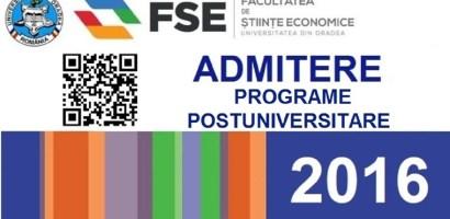 Inscrieri la 9 programe postuniversitare la Facultatea de Stiinte Economice din Oradea