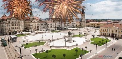 Revelion in Piata Unirii, cu muzica buna si artificii, organizat de Primaria Oradea