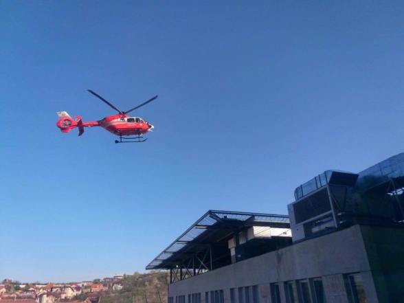Primul heliport construit pe un spital judetean in România, a fost inaugurat azi la Oradea (VIDEO)