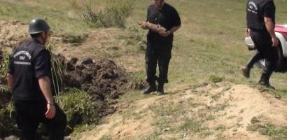 Bomba aruncator descoperita in gradina unui individ din Girisu de Cris