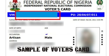 REGISTER AND COLLECT YOUR NIGERIAN VOTERS CARD 2018- proper steps to take