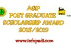 AGIP POST GRADUATE SCHOLARSHIP AWARD 2018/2019- Application Link and details-Apply here
