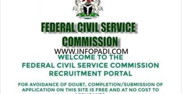 Federal Civil Service Commission (FCSC) Nationwide Recruitment 2019- How to Apply and Closing Date for Application Form